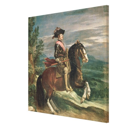 Equestrian Portrait of Philip IV  c.1636 Canvas Print