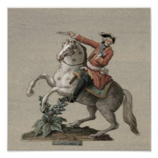 Equestrian portrait of Prince Charles Poster