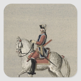 Equestrian portrait of Prince Charles Square Sticker