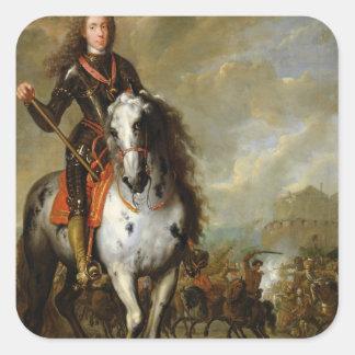 Equestrian Portrait of Prince Eugene Square Sticker