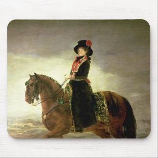 Equestrian portrait of Queen Maria Luisa Mouse Pad