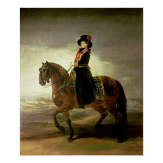 Equestrian portrait of Queen Maria Luisa Poster