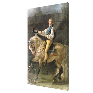 Equestrian Portrait of Stanislas Kostka Canvas Print