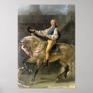Equestrian Portrait of Stanislas Kostka Print