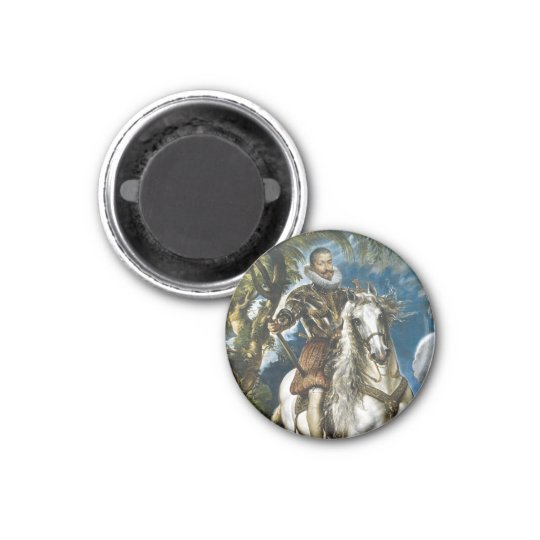 Equestrian Portrait of the Duke of Lerma Rubens 1 Inch Round Magnet