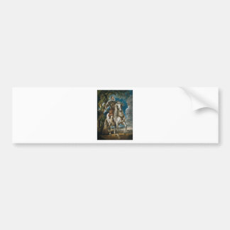 Equestrian Portrait of the Duke of Lerma - Rubens Bumper Sticker