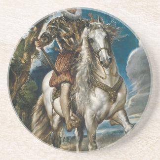 Equestrian Portrait of the Duke of Lerma - Rubens Coaster