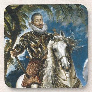 Equestrian Portrait of the Duke of Lerma Rubens Drink Coaster