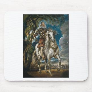 Equestrian Portrait of the Duke of Lerma - Rubens Mouse Pad