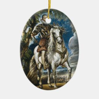 Equestrian Portrait of the Duke of Lerma Rubens Christmas Ornaments