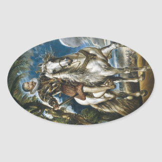 Equestrian Portrait of the Duke of Lerma Rubens Oval Sticker