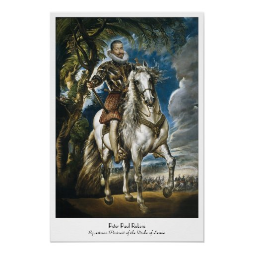 Equestrian Portrait of the Duke of Lerma Rubens Poster