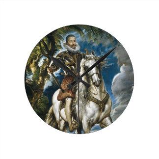 Equestrian Portrait of the Duke of Lerma Rubens Round Clock