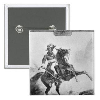 Equestrian portrait of Thomas Alexandre 2 Inch Square Button