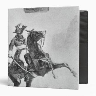 Equestrian portrait of Thomas Alexandre 3 Ring Binder