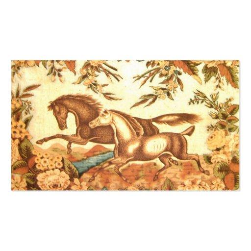 Equestrian Profile Card Business Card Templates