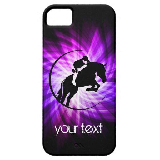 Equestrian púrpura iPhone 5 Case-Mate carcasas