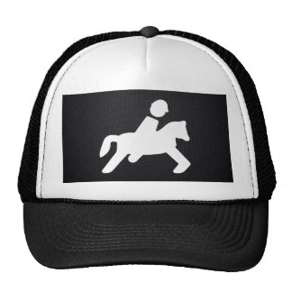 Equestrian Riders Pictograph Trucker Hat