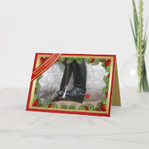 Equestrian Riding Boots Horse Merry Christmas Card