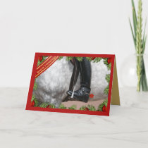 Equestrian Riding Boots Horse Season's Greetings Holiday Card