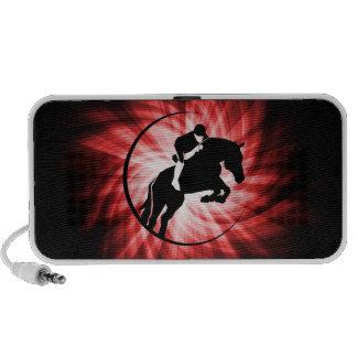 Equestrian rojo notebook altavoz