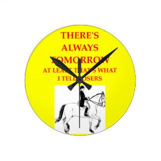 equestrian round clock
