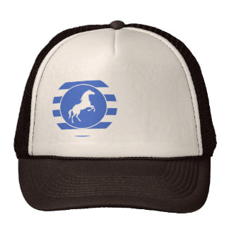Equestrian; Royal Blue Stripes Trucker Hat