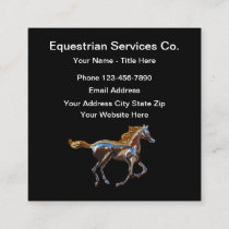 Equestrian Services Square Business Card
