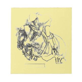 Equestrian Show Jumper - Horse Notepads