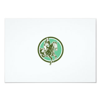 Equestrian Show Jumping Circle Retro Personalized Announcements