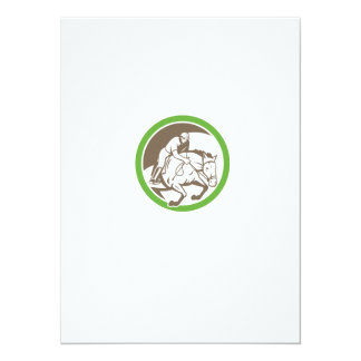 Equestrian Show Jumping Circle Retro Personalized Announcement