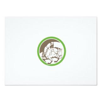 Equestrian Show Jumping Circle Retro Invitation