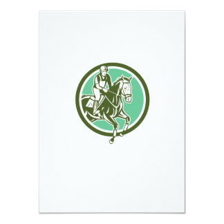Equestrian Show Jumping Circle Retro Personalised Announcement