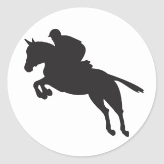 Equestrian Show Jumping Classic Round Sticker