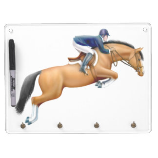 Equestrian Show Jumping Horse Dry Erase Board
