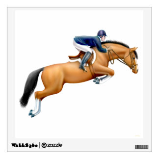Equestrian Show Jumping Hunter Horse Wall Decal