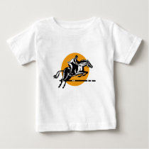 Equestrian Show Jumping Retro Baby T-Shirt