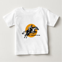 Equestrian Show Jumping Retro Baby T-Shirt