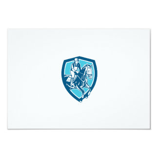 Equestrian Show Jumping Shield Retro Personalised Announcement