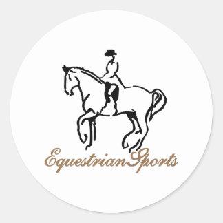 Equestrian Sports Classic Round Sticker