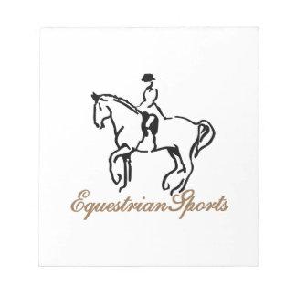 Equestrian Sports Notepad