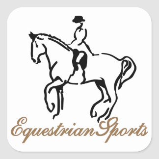 Equestrian Sports Square Sticker