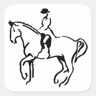 Equestrian Square Sticker