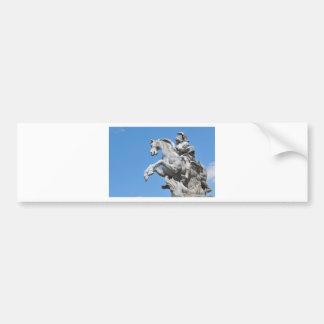 Equestrian statue bumper sticker