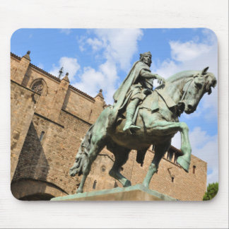 Equestrian statue in Barcelona, Spain Mouse Pad