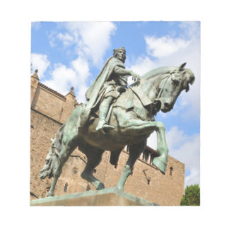 Equestrian statue in Barcelona, Spain Notepad