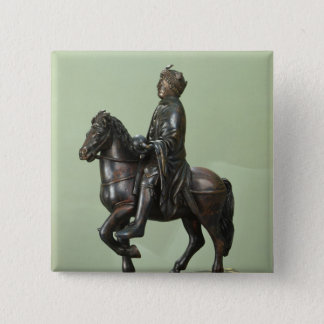 Equestrian statue of Charlemagne 2 Button