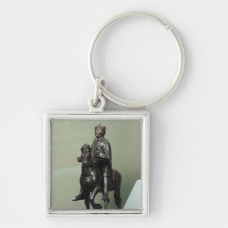 Equestrian statue of Charlemagne Keychain