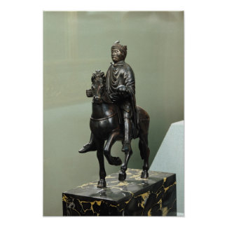 Equestrian statue of Charlemagne Poster