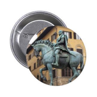 Equestrian statue of Cosimo de Medici, Florence 2 Inch Round Button